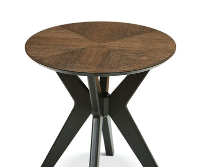Raynor End Table Brown/Gunmetal - Scandinavian Designs
