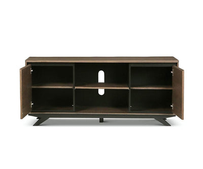 Raynor Media Stand Brown/Gunmetal - Scandinavian Designs