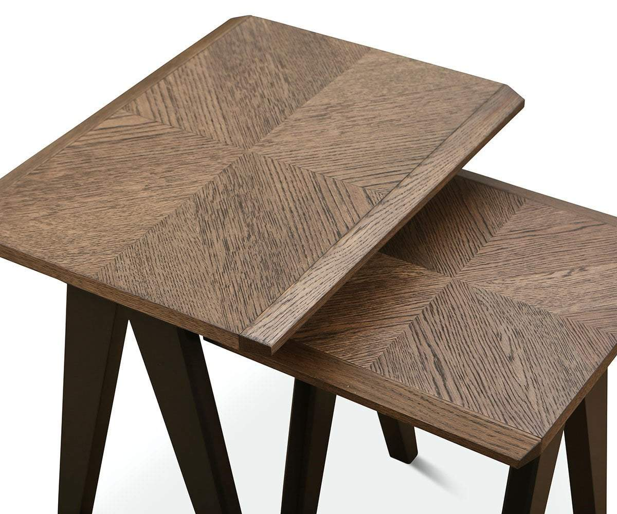 Raynor Nest Of Tables Brown/Gunmetal - Scandinavian Designs