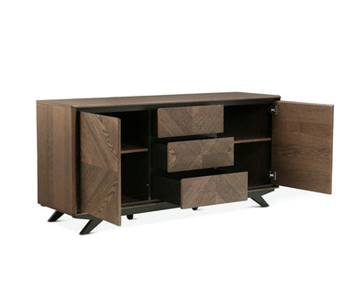 Raynor Sideboard Brown/Gunmetal - Scandinavian Designs