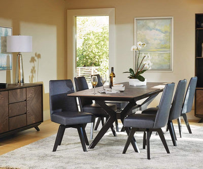 Raynor Extension Dining Table Brown/Gunmetal - Scandinavian Designs