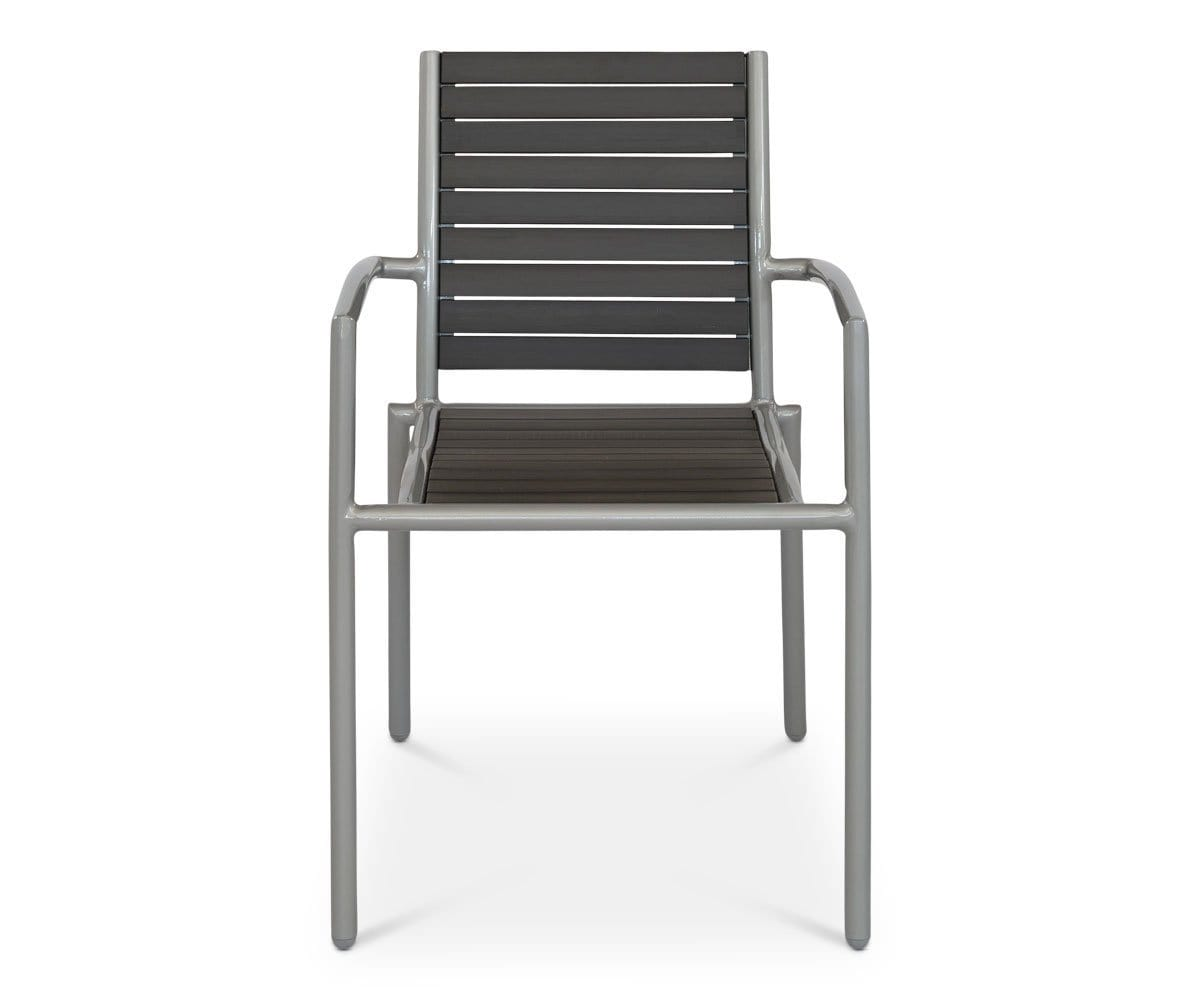Ticari Stacking Arm Chair GREY - Scandinavian Designs