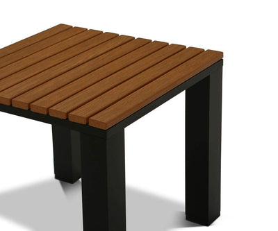 Da Costa End Table Teak/Black - Scandinavian Designs