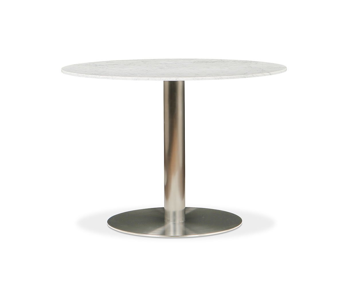 Deilig Dining Table White/Stainless Steel - Scandinavian Designs