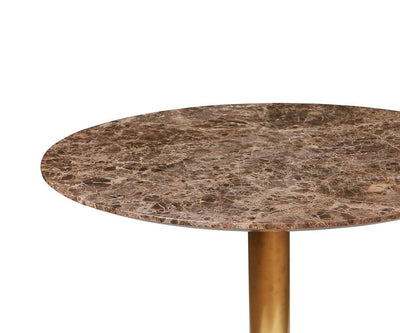 Deilig Dining Table - Brown Brown/Brass - Scandinavian Designs