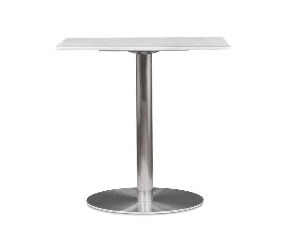 Deilig Bistro Table White/Stainless Steel - Scandinavian Designs