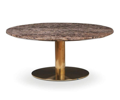 Deilig Coffee Table - Brown Brown/Brass - Scandinavian Designs