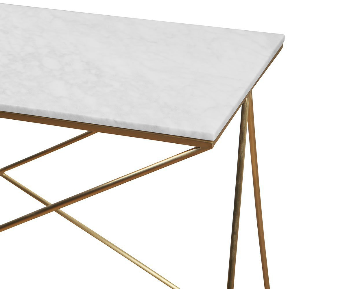 Finna Console Table White/Brass - Scandinavian Designs
