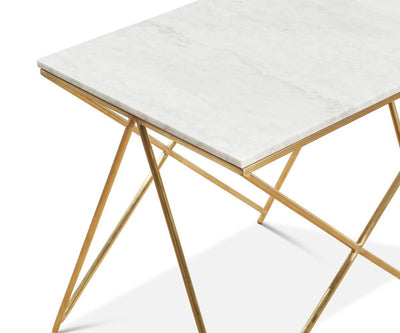 Finna End Table White/Brass - Scandinavian Designs