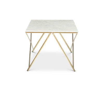 Finna Coffee Table White/Brass - Scandinavian Designs