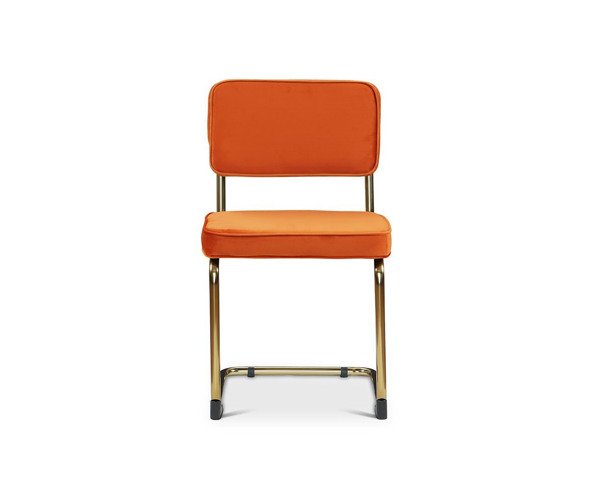 Stina Dining Chair Orange/Brass - Scandinavian Designs
