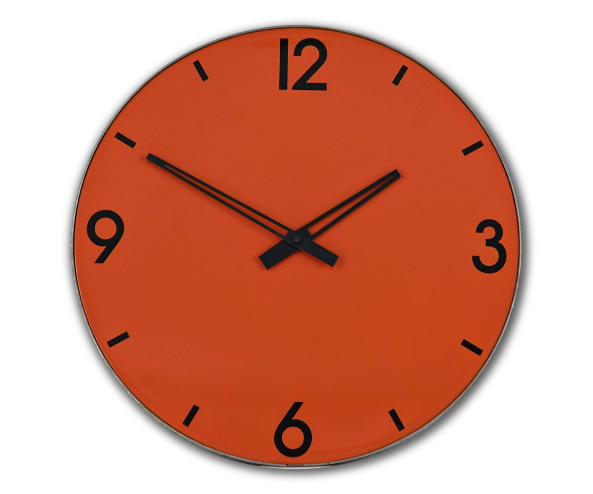 "Tilde 15"" Clock Orange - Scandinavian Designs"