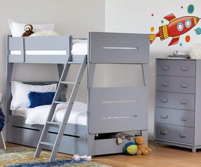 Sloane High Chest Sloane Grey - Scandinavian Designs