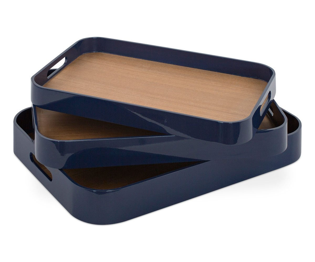 Kotona Round Edge Tray Set BLUE - Scandinavian Designs