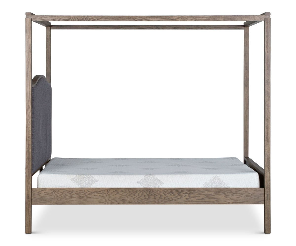 "Petra Canopy Bed NATURAL ACACIA / QUEEN (63"" W x 85"" D x 78"" H) - Scandinavian Designs"