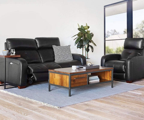 Larus Leather Power Recliner - Scandinavian Designs