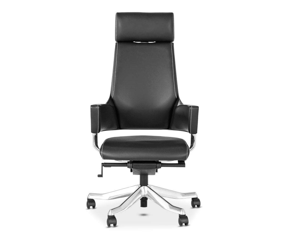 Delphi Leather Desk Chair - Scandinavian Designs