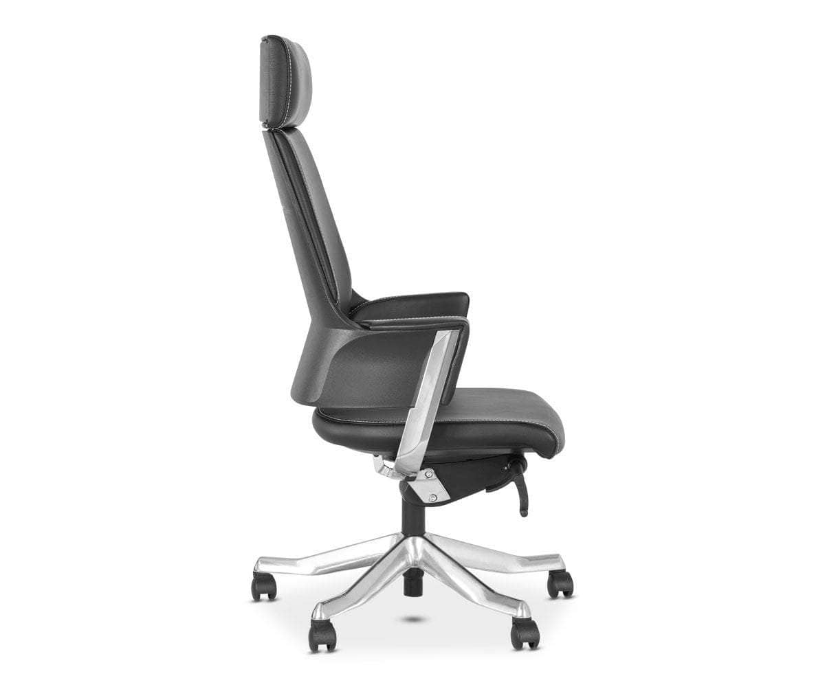 Delphi Leather Desk Chair BLACK - Scandinavian Designs