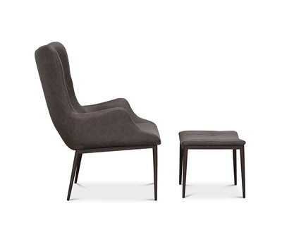 Selvik Chair & Ottoman Dark Grey HE510-24B - Scandinavian Designs