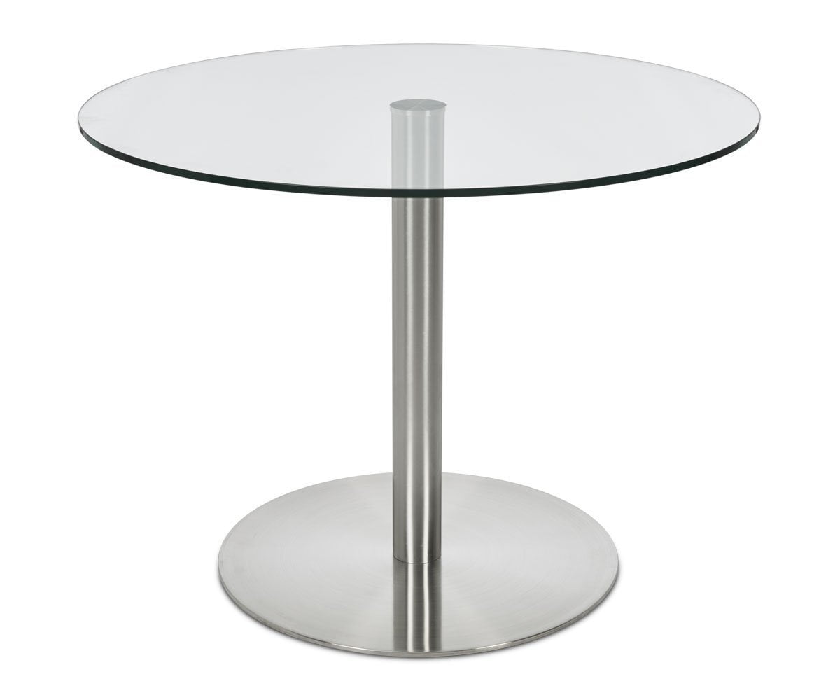 Berta Glass Dining Table Stainless Steel - Scandinavian Designs