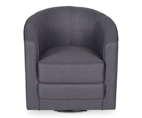 Theva Swivel Chair Grey Corsica 20 - Scandinavian Designs