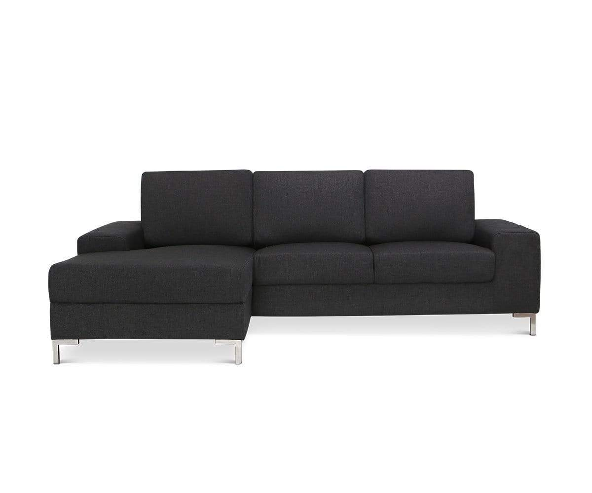 Oregon Left Chaise Sectional Anthracite Dallas 470 - Scandinavian Designs