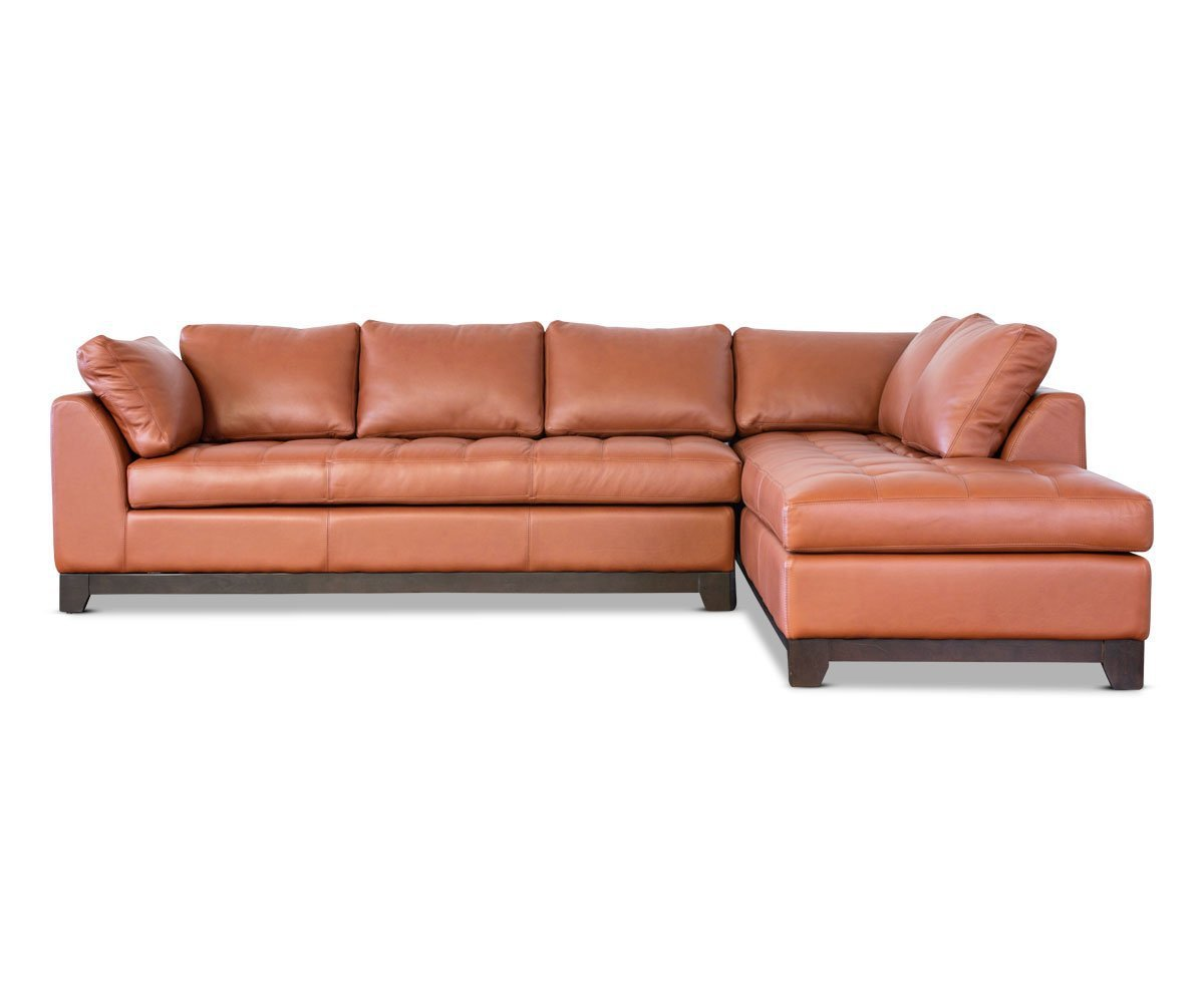 Valenza Leather Right Sectional