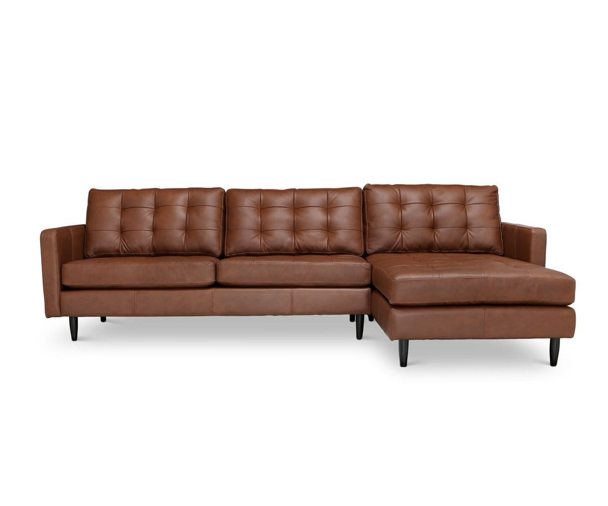 Tora Leather Right Chaise Sectional – Scandinavian Designs