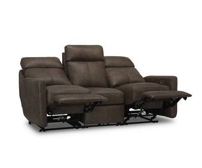 Verona Leather Power Reclining Sofa Naples Driftwood - Scandinavian Designs