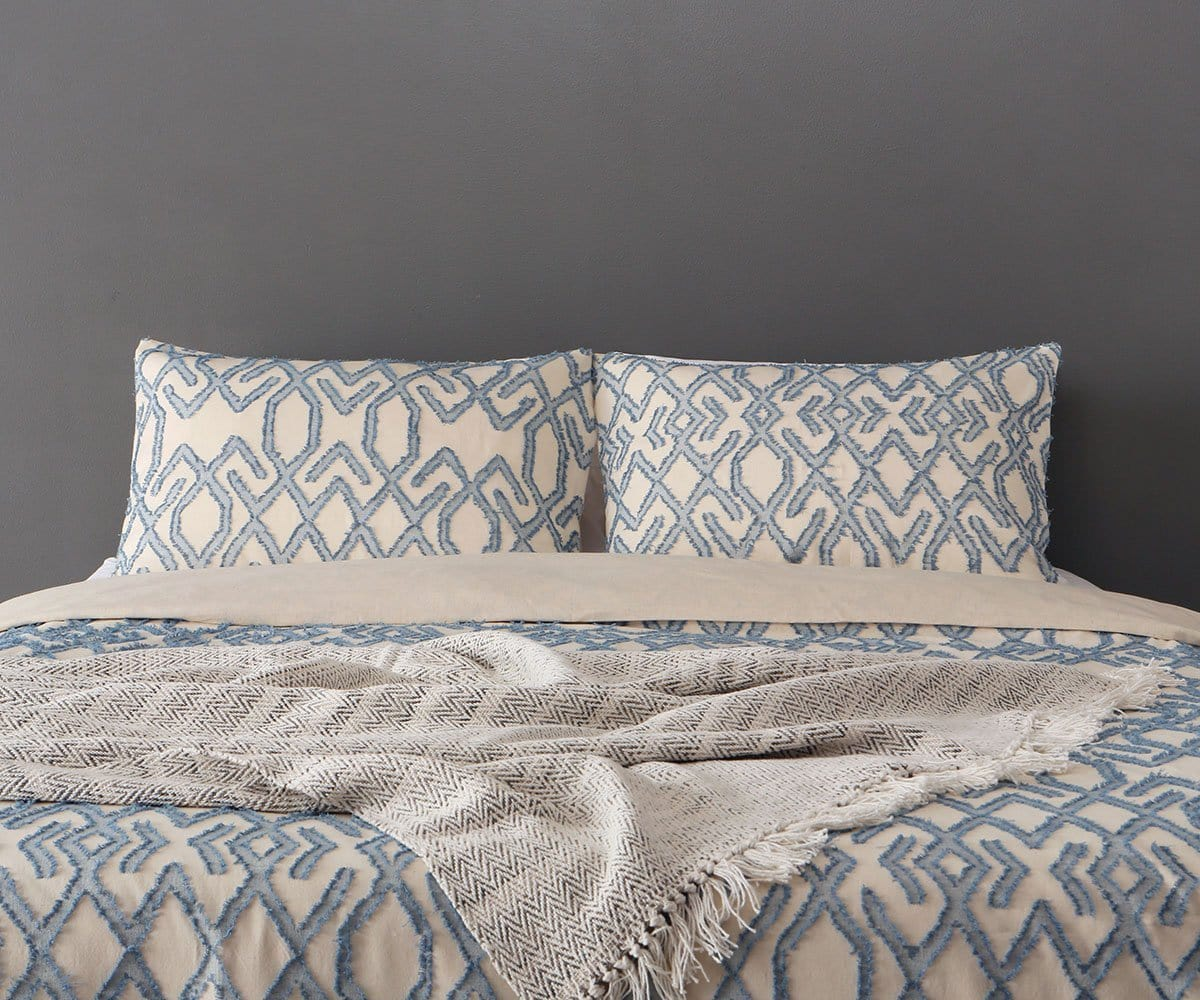 Troym Duvet Set Blue/Multi / King/Cal. King - Scandinavian Designs