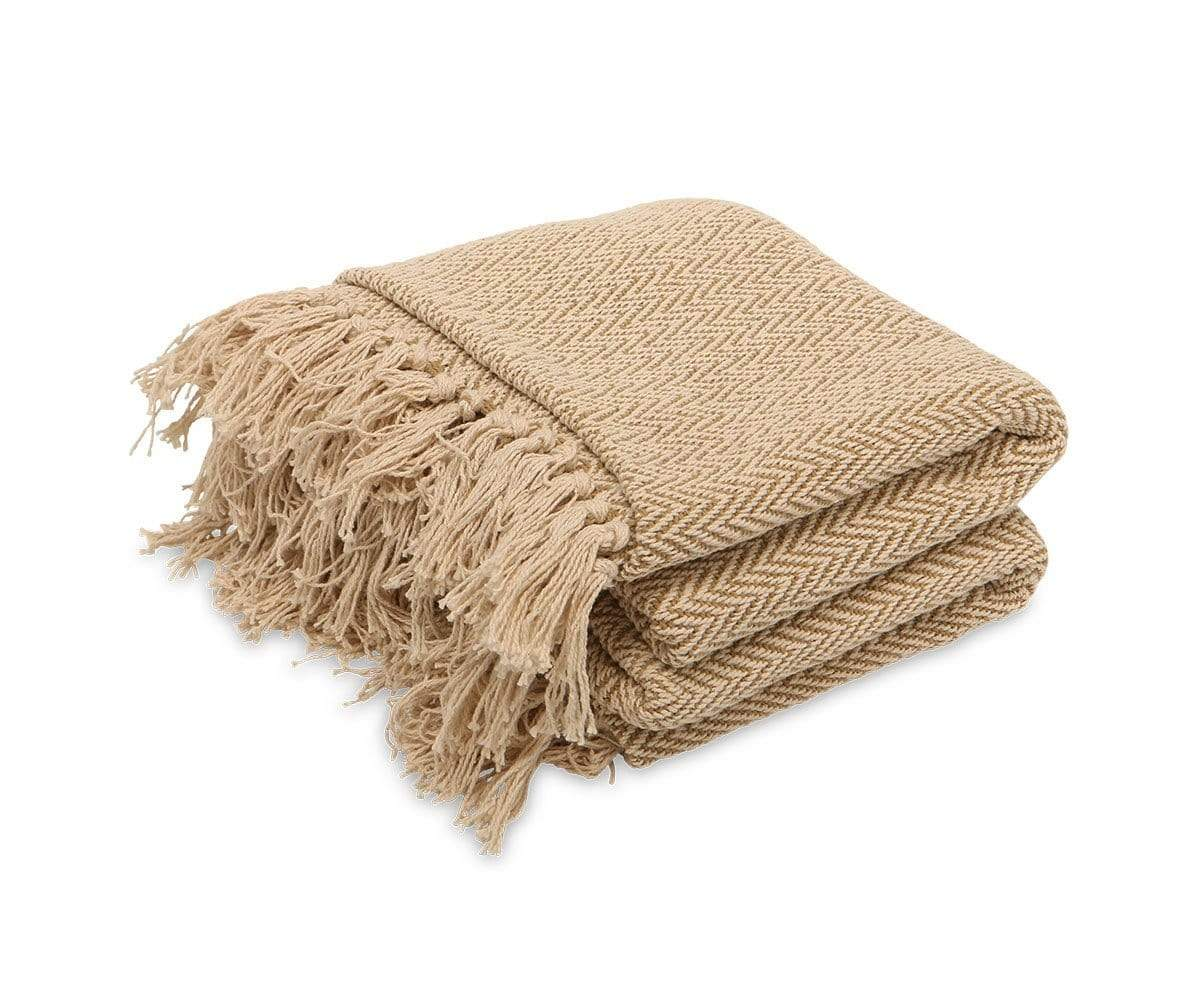 Severn Throw Blanket Brown/Multi - Scandinavian Designs