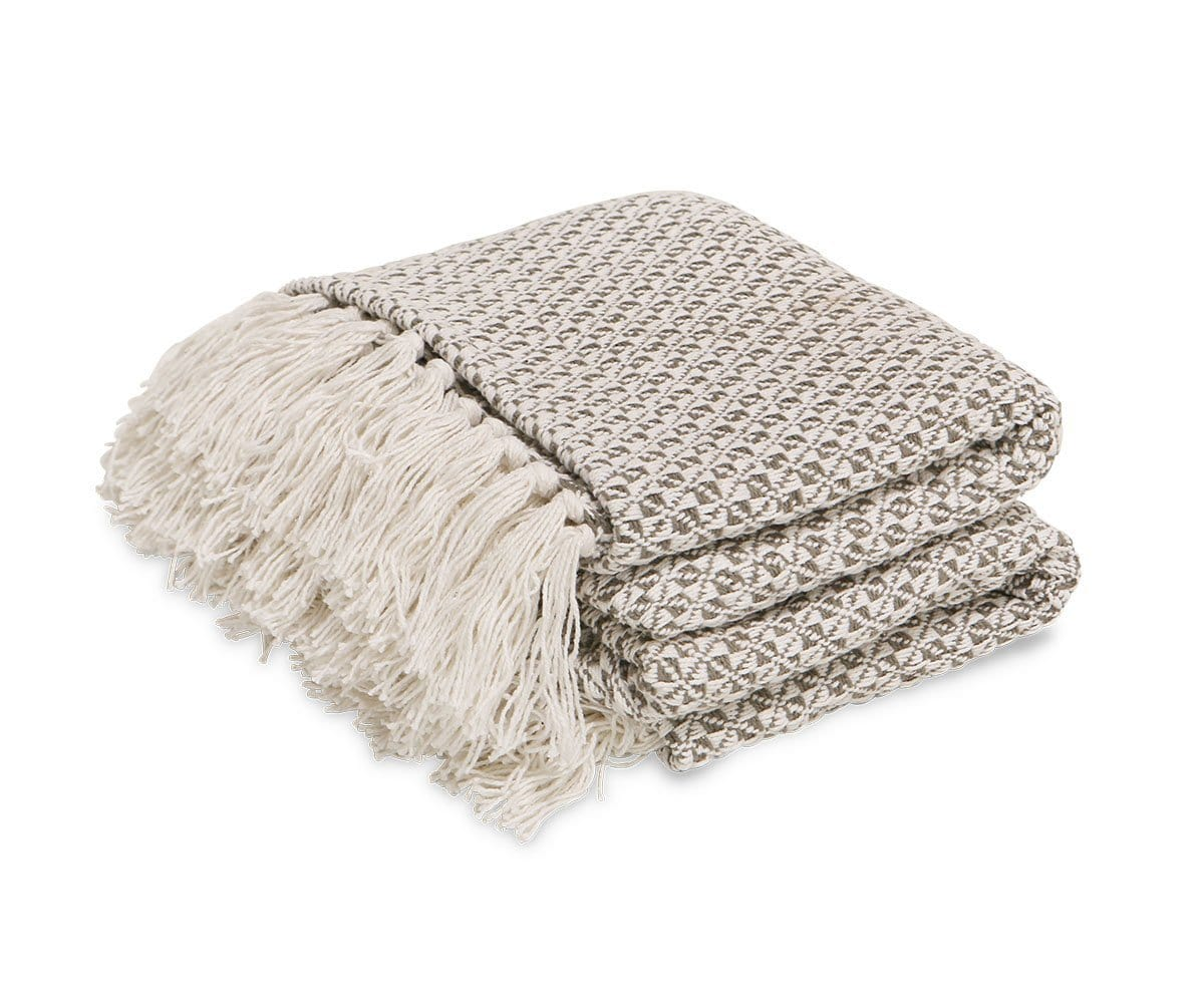 Nesbyen Throw Blanket Beige/Multi - Scandinavian Designs