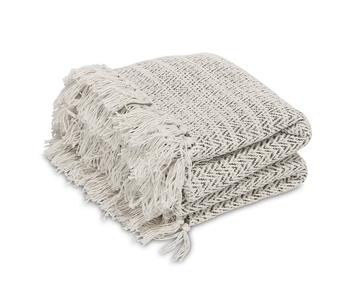 Utepils Throw Blanket White/Multi - Scandinavian Designs