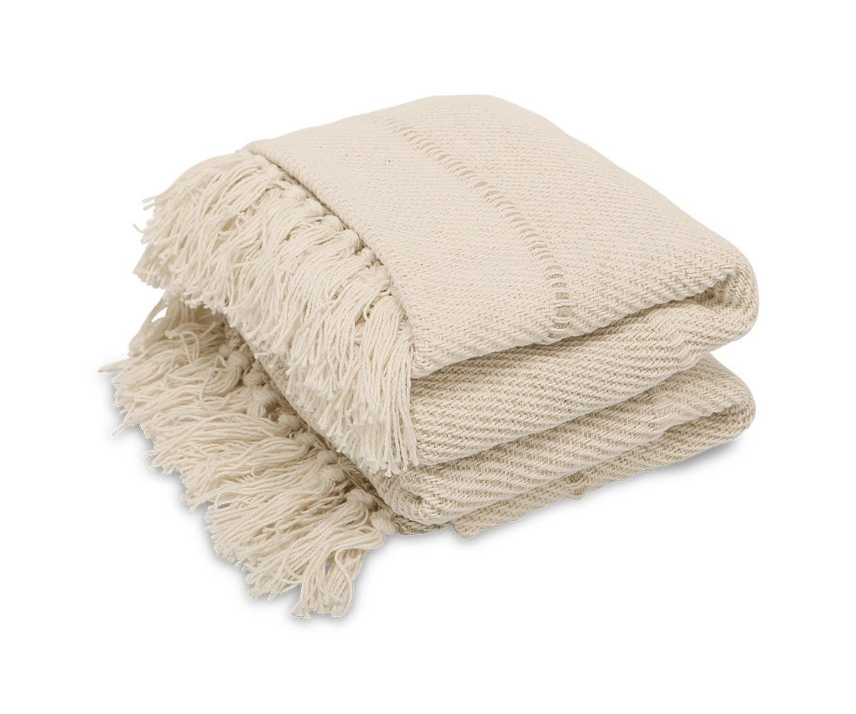 Maleri Throw Blanket Beige - Scandinavian Designs