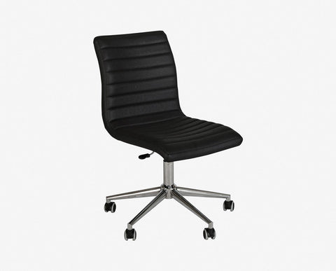 Adjustable height mobile desk chair