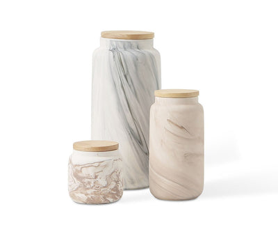 Akran Ceramic Jars Small - Scandinavian Designs