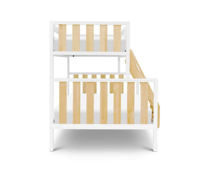 Rowan Twin-Over-Full Bunk Bed White/Natural - Scandinavian Designs