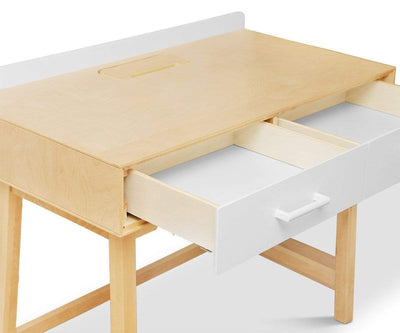 Rowan Desk White/Natural - Scandinavian Designs