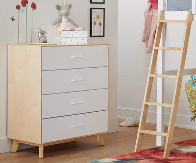 Rowan High Chest White/Natural - Scandinavian Designs