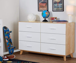 Rowan Double Dresser White/Natural - Scandinavian Designs
