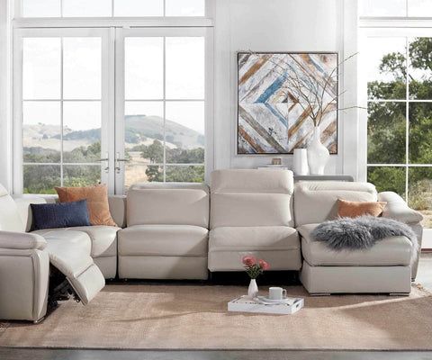 Maxino Power Motion Right Sectional - Silver - Scandinavian Designs