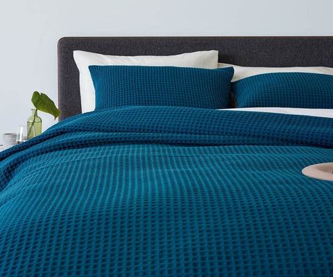 Mellan Duvet Cover - Teal - Scandinavian Designs