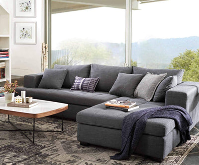 Mirak Left Chaise Seated Sectional CHARCOAL Dh1311c-33 - Scandinavian Designs