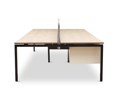 "Jensen 63"" Four Desk OAK - Scandinavian Designs"