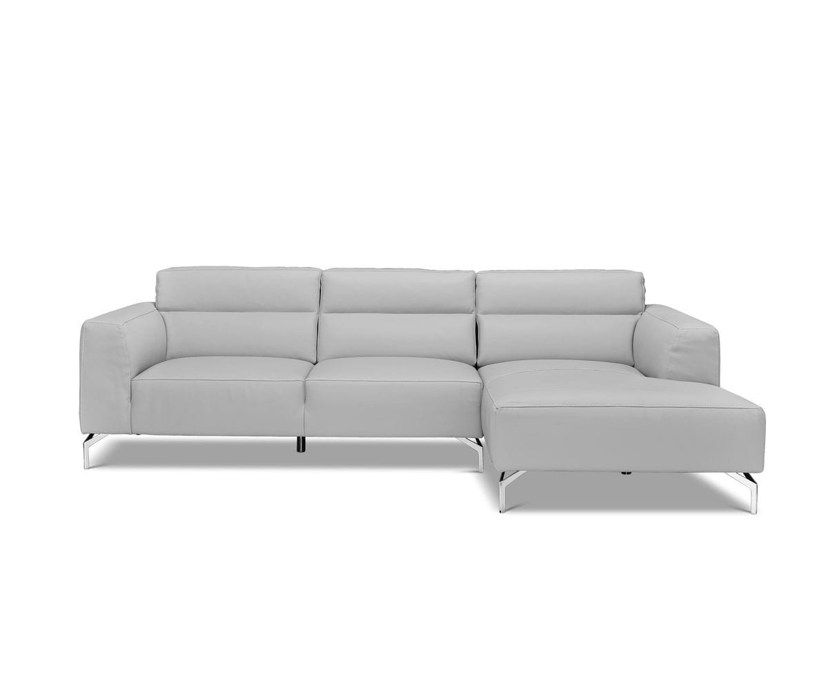 Gianna Leather Right Chaise Sectional