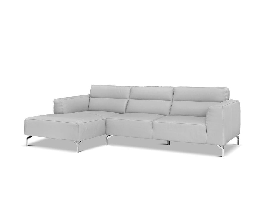 Gianna Leather Left Chaise Sectional