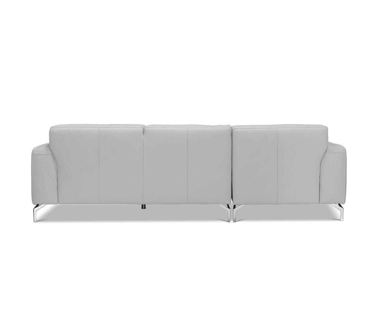 Gianna Leather Left Chaise Sectional Grey 360/S - Scandinavian Designs
