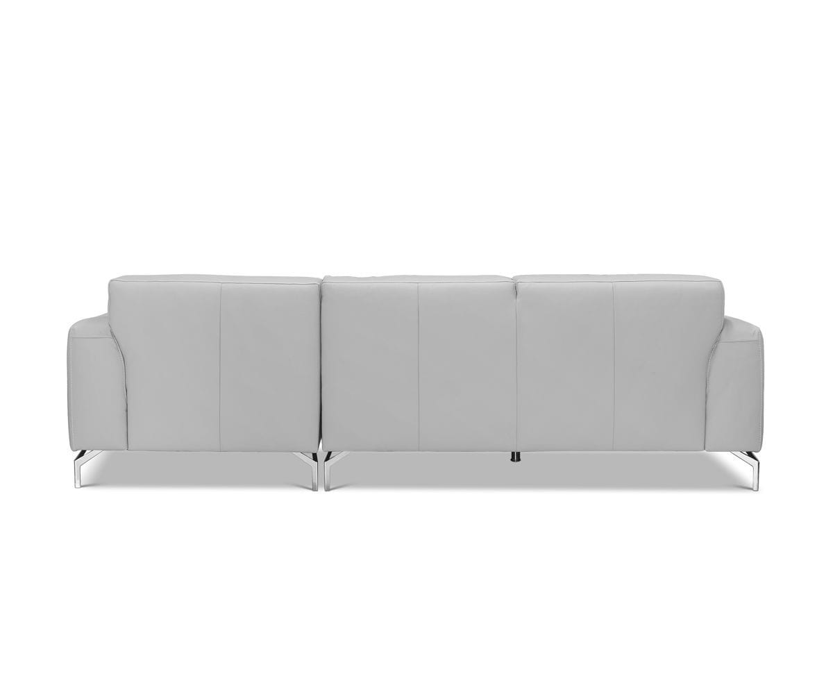 Gianna Leather Right Chaise Sectional Grey 360/S - Scandinavian Designs