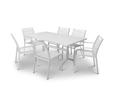 Kihei Rectangular Table White - Scandinavian Designs