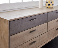 Owen Double Dresser Sandblasted Grey - Scandinavian Designs